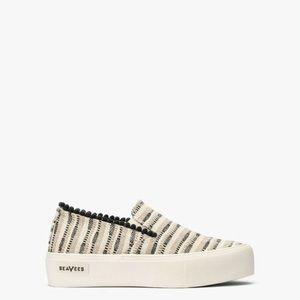 SeaVees Baja Slip on Embroidered Platform Sneakers